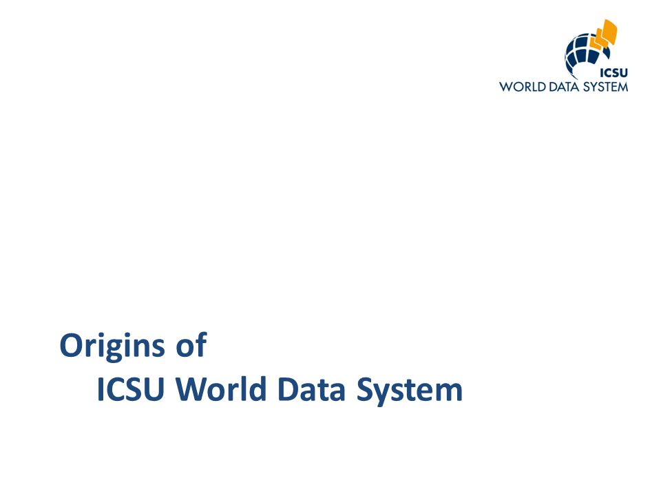 Origins of ICSU World Data System