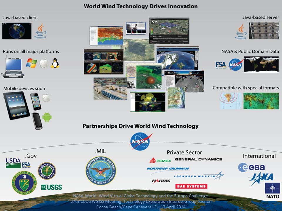 NASA World Wind Virtual Globe Technology and the Europa Challenge.