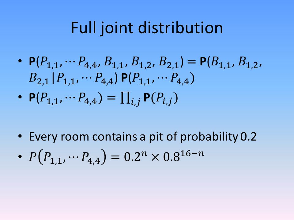 Full joint distribution