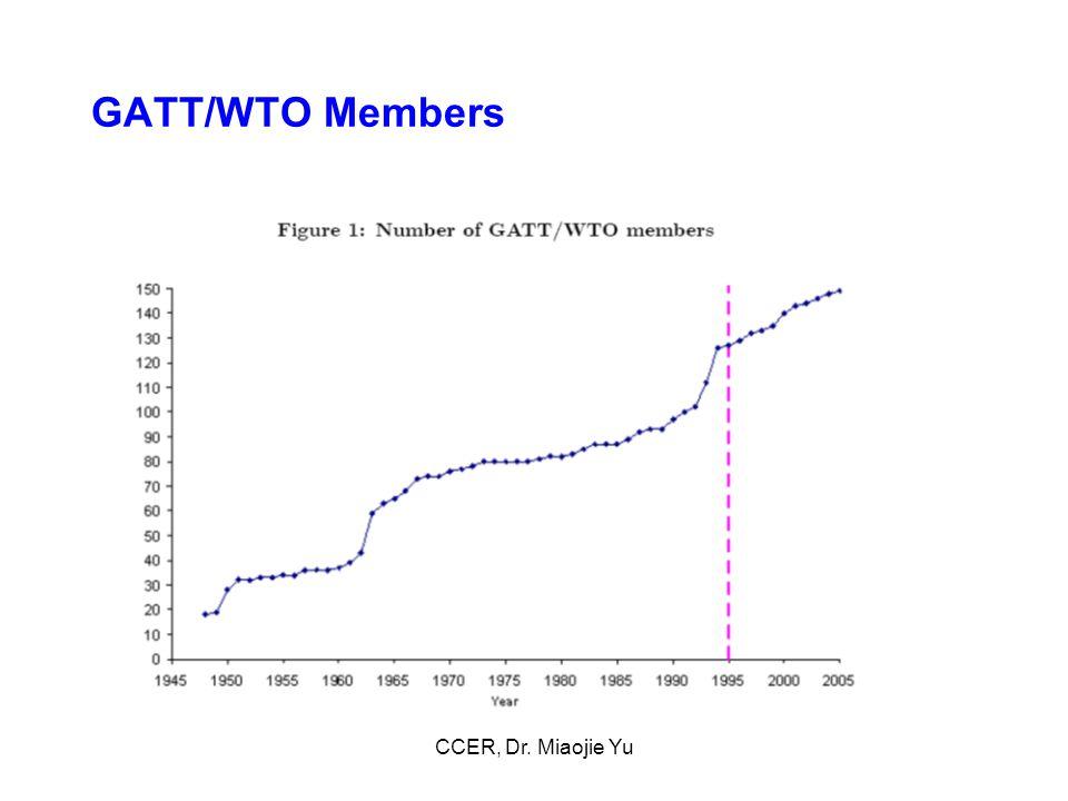 GATT/WTO Members CCER, Dr. Miaojie Yu