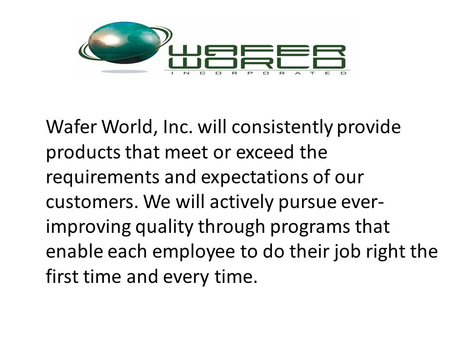 Wafer World, Inc.