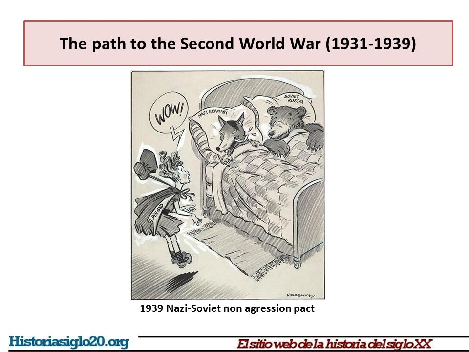 The path to the Second World War (1931-1939) 1939 Nazi-Soviet non agression pact