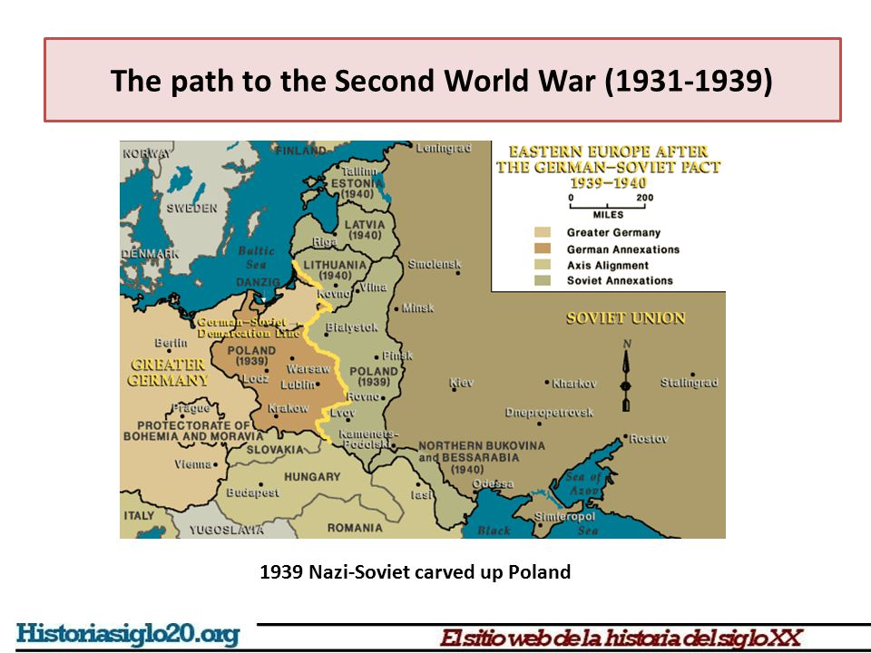 The path to the Second World War (1931-1939) 1939 Nazi-Soviet carved up Poland