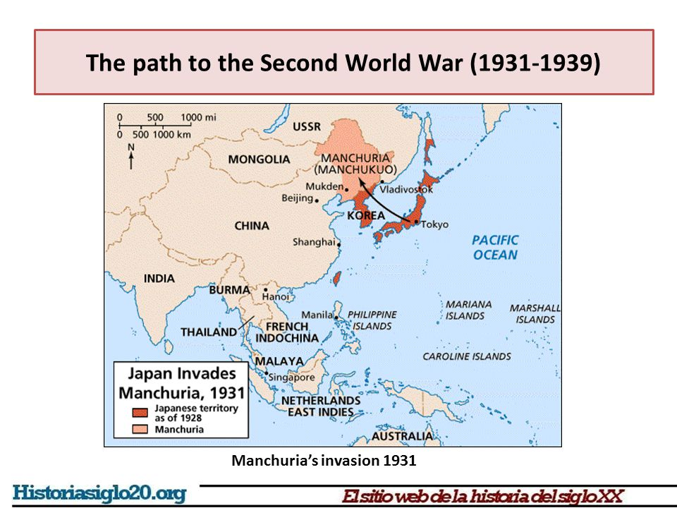 The path to the Second World War (1931-1939) Manchuria's invasion 1931