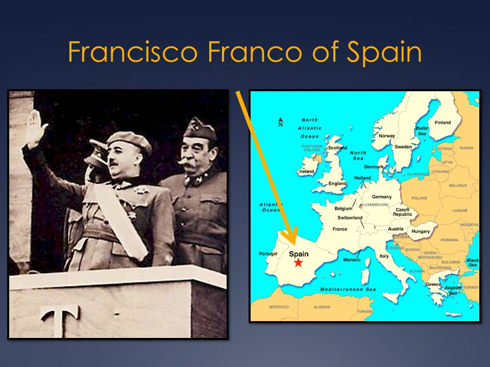 Francisco Franco of Spain