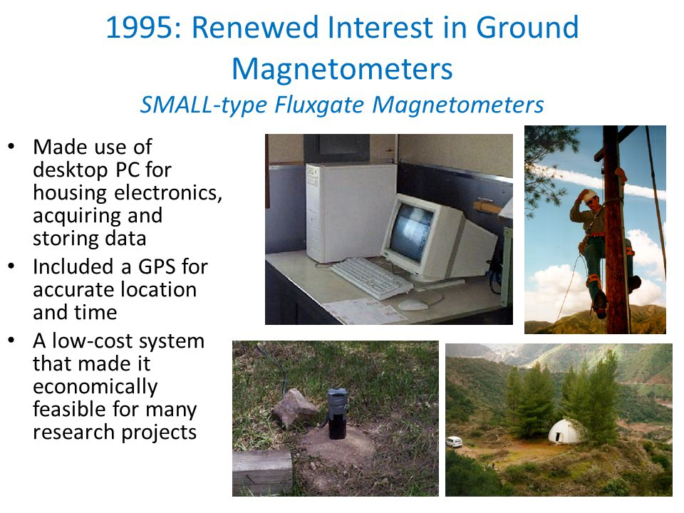 1995- early 2000s: SMALL & IGPP-LANL Arrays PI: Guan Le Chris organized a meeting with Chinese PIs at UCLA A dozen stations were established in China PI: V.