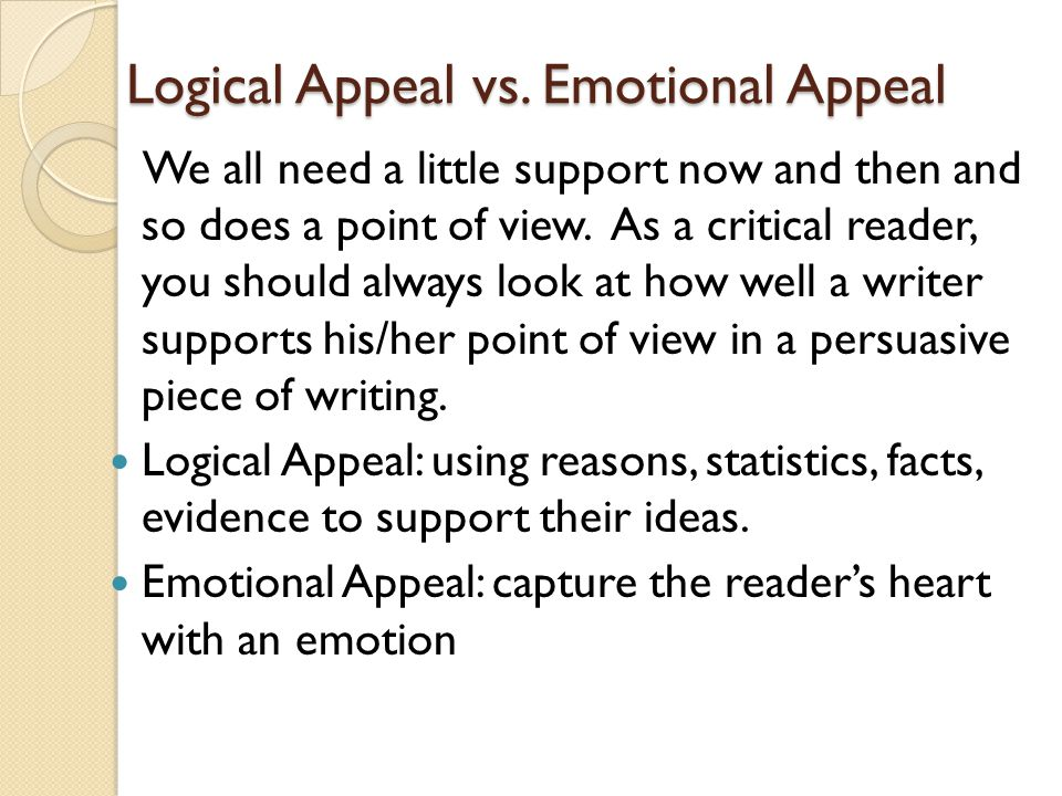 Logical Appeal vs.