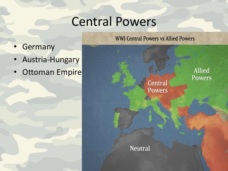 Central Powers Germany Austria-Hungary Ottoman Empire