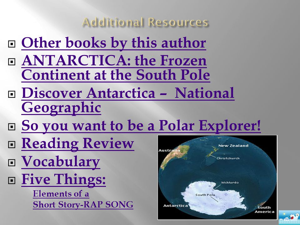  Other books by this author Other books by this author  ANTARCTICA: the Frozen Continent at the South Pole ANTARCTICA: the Frozen Continent at the S