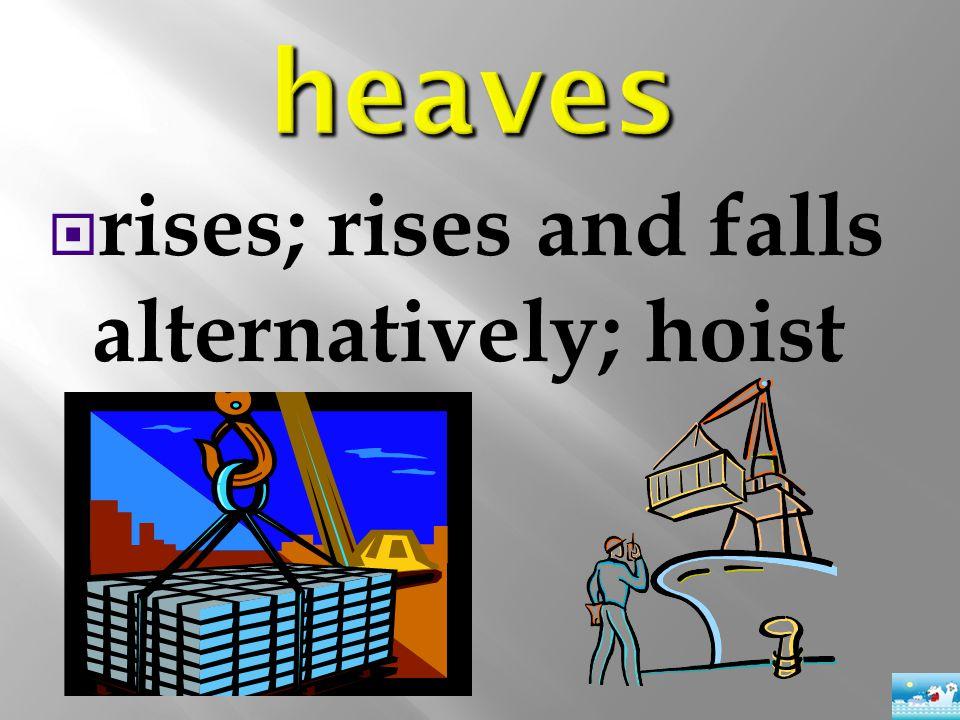  rises; rises and falls alternatively; hoist