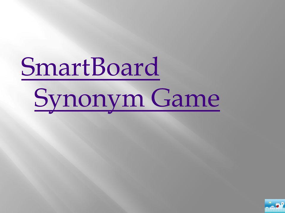 SmartBoard Synonym Game