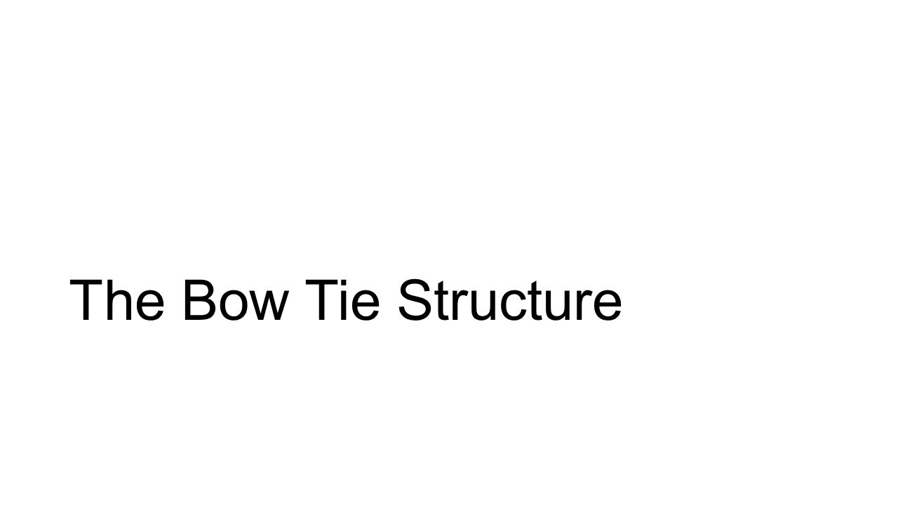The Bow Tie Structure