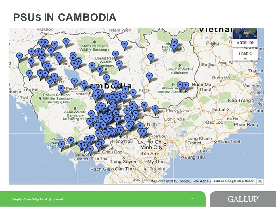 7 PSU S IN CAMBODIA Copyright © 2014 Gallup, Inc. All rights reserved.