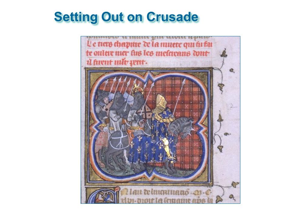 Setting Out on Crusade