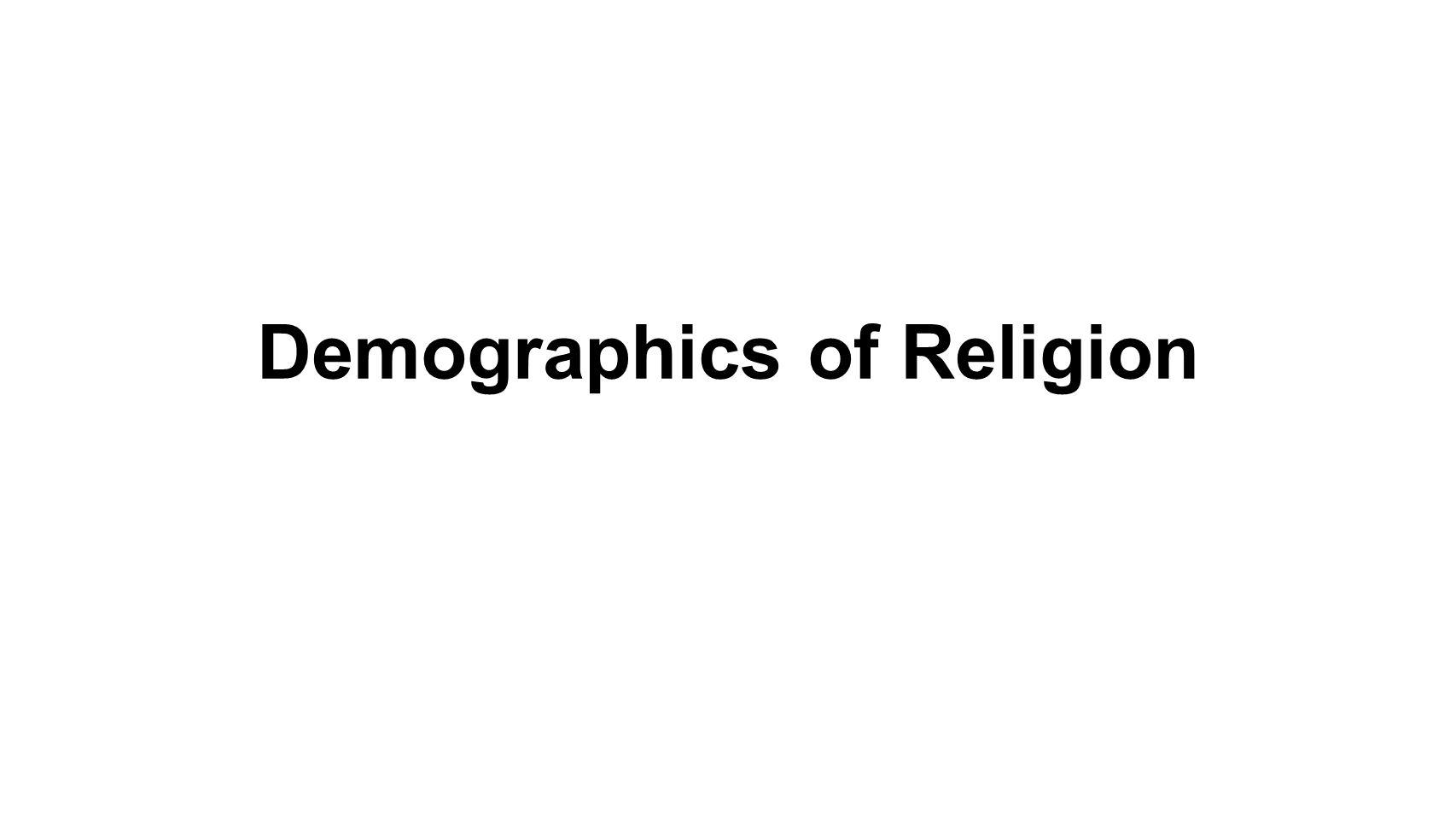 Demographics of Religion