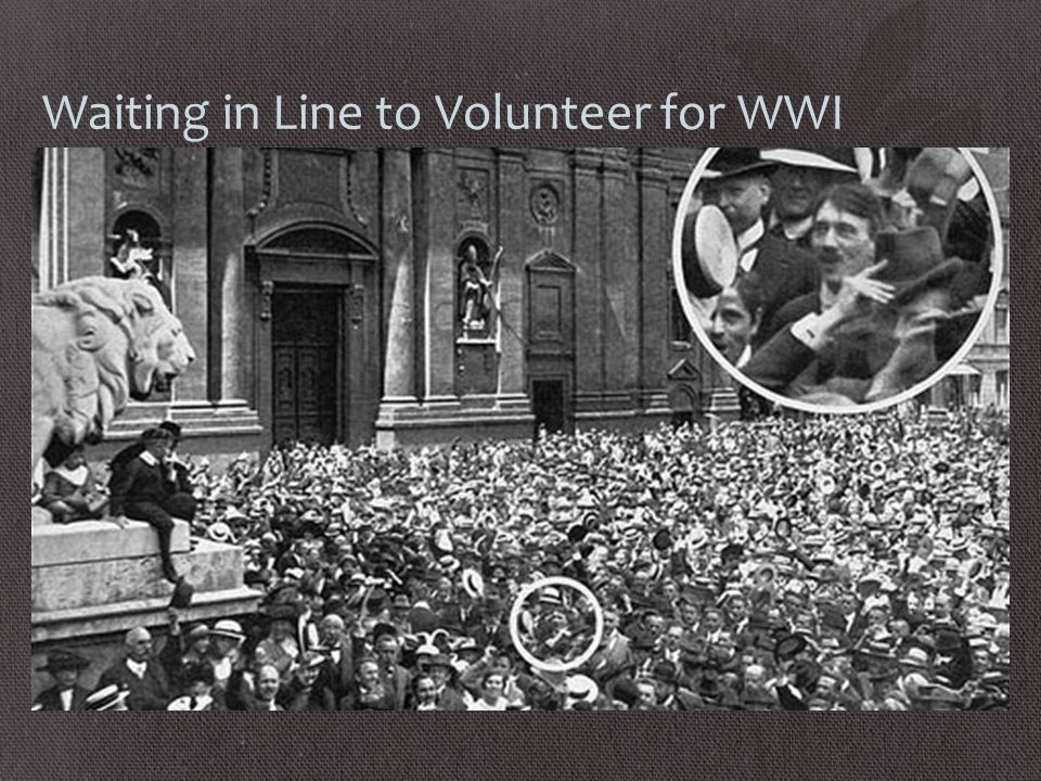 Waiting in Line to Volunteer for WWI