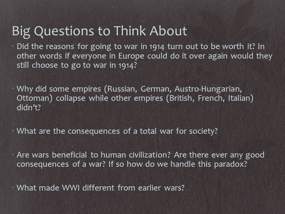 Causes of WWI: It's Complicated Long term Background Causes Pre-War Alliance System: France vs.