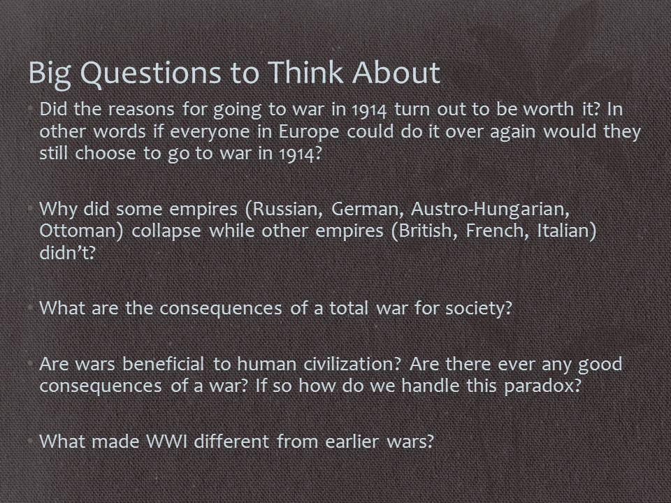World War I: How was it Unique.