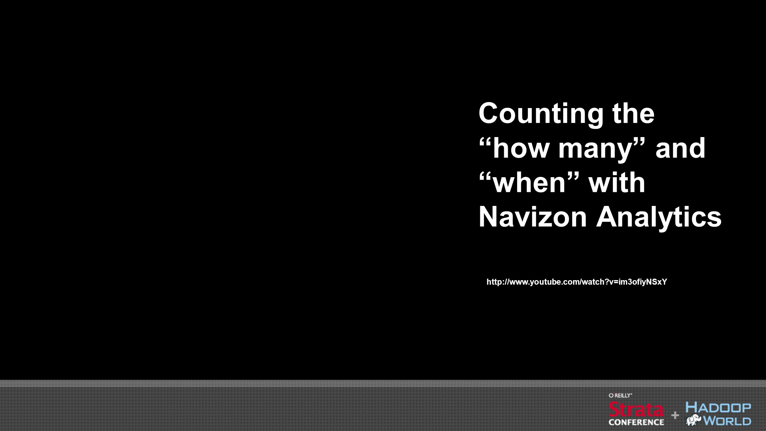 Counting the how many and when with Navizon Analytics http://www.youtube.com/watch?v=im3ofiyNSxY