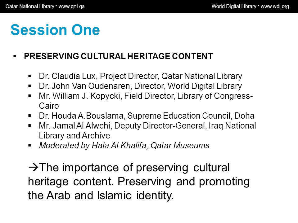 World Digital Library www.wdl.org OSI | WEB SERVICES  PRESERVING CULTURAL HERITAGE CONTENT  Dr.
