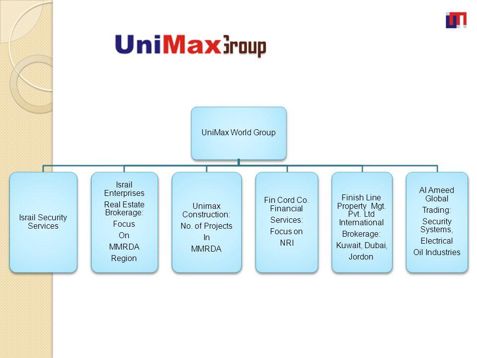 World Group World Group UniMax World Group Israil Security Services Israil Enterprises Real Estate Brokerage: Focus On MMRDA Region Unimax Constructio