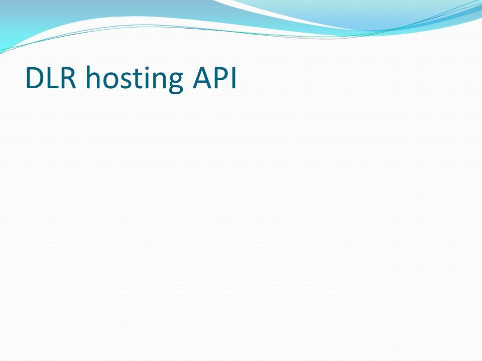 DLR hosting API