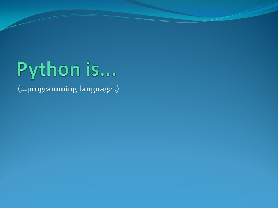 (...programming language :)
