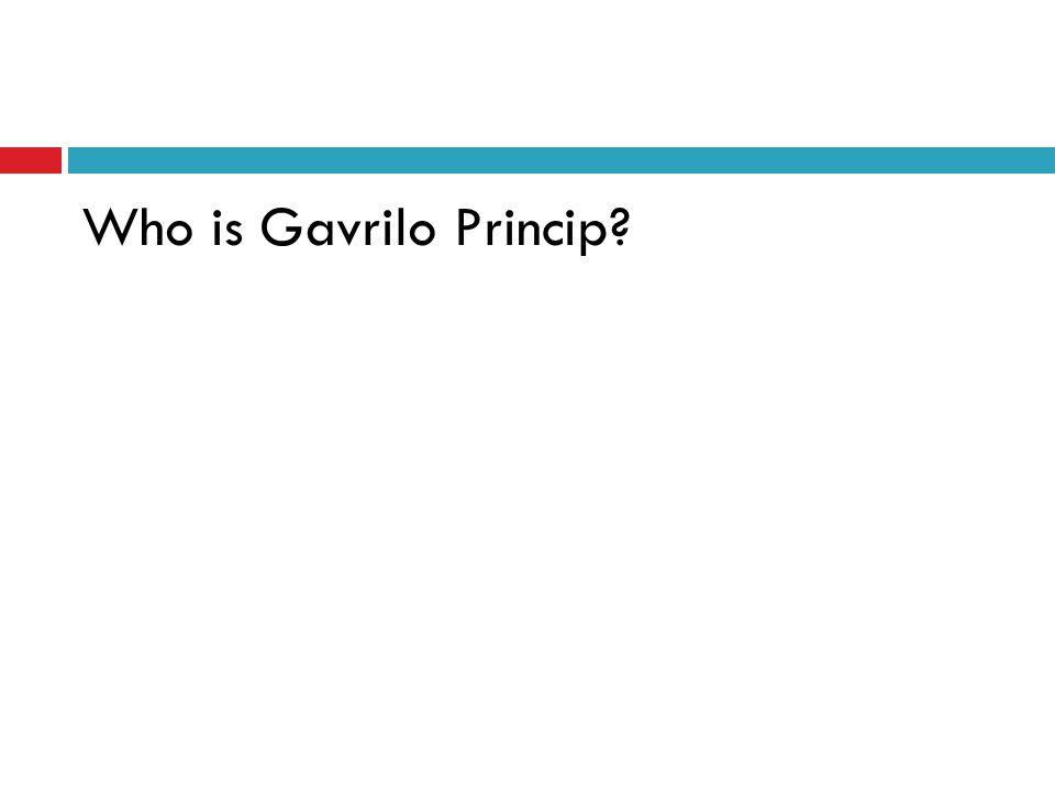 Who is Gavrilo Princip?
