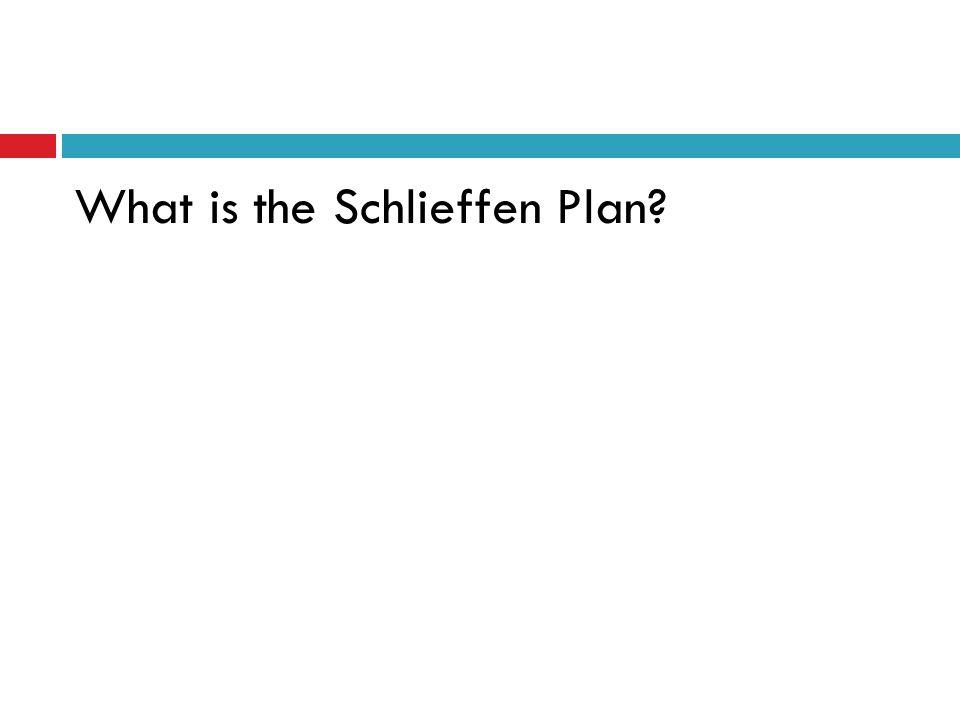 What is the Schlieffen Plan?