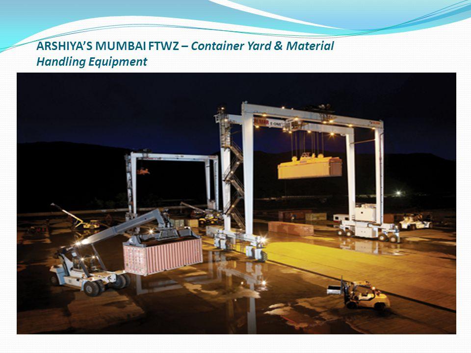 ARSHIYA'S MUMBAI FTWZ – Container Yard & Material Handling Equipment