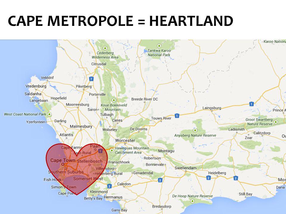 CAPE METROPOLE = HEARTLAND
