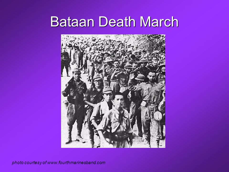 Bataan Death March photo courtesy of www.fourthmarinesband.com