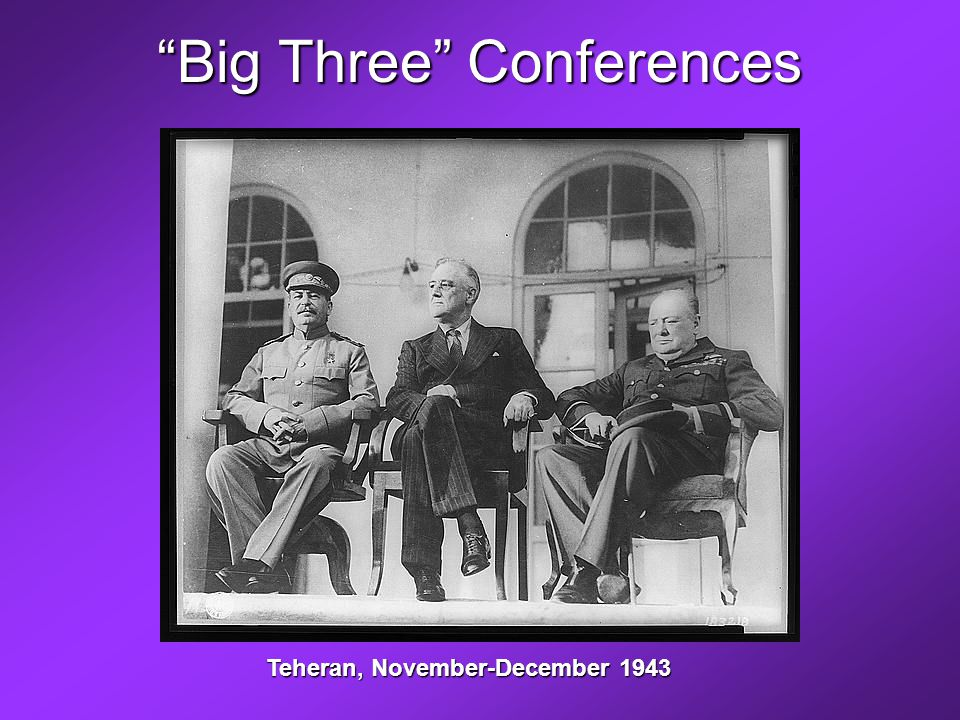 Big Three Conferences Teheran, November-December 1943