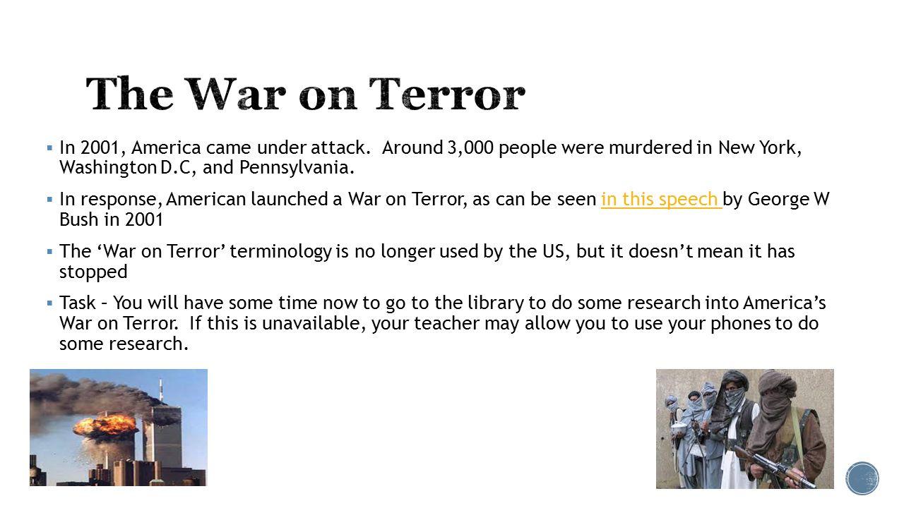  In 2001, America came under attack.