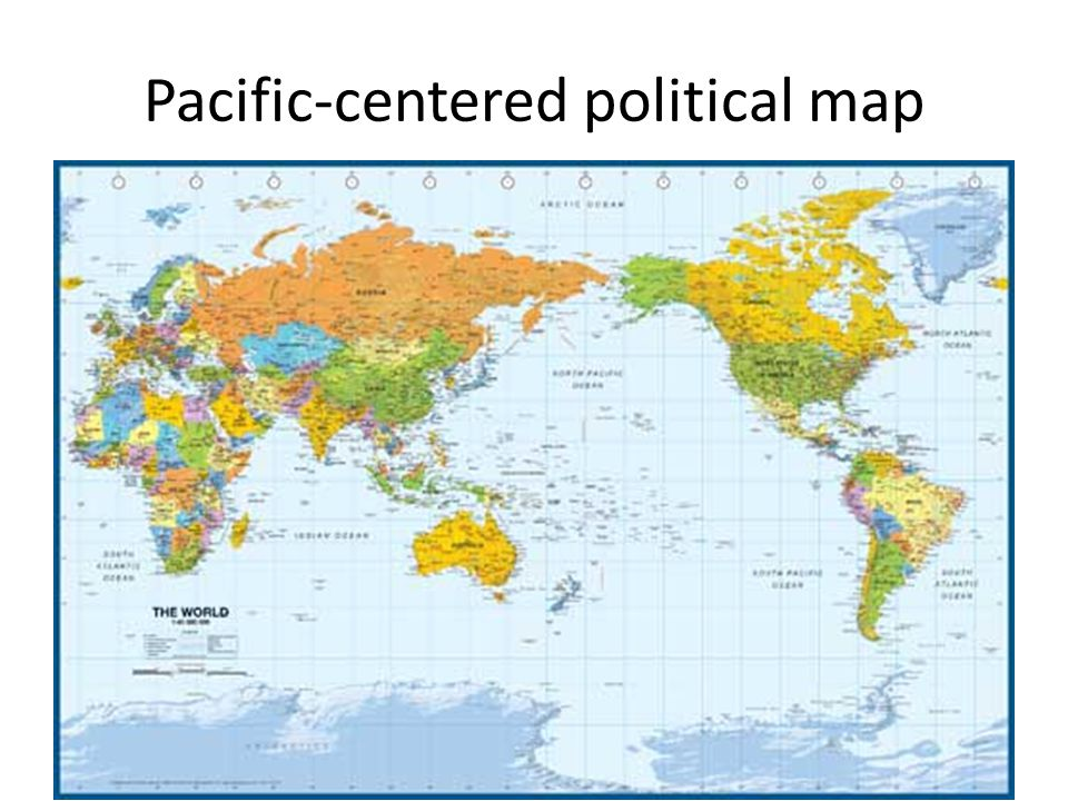 Pacific-centered political map