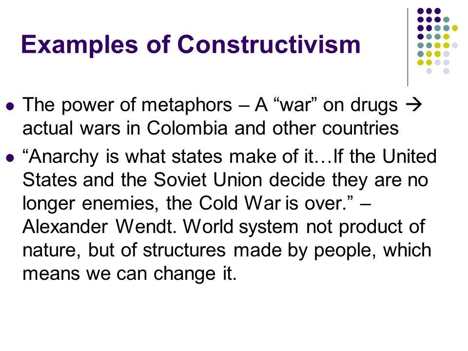 3. (Social) Constructivism Constructivism World System Constructed (Rhetoric Determines Reality) Key Actors Structures and Communities Goals of Actors
