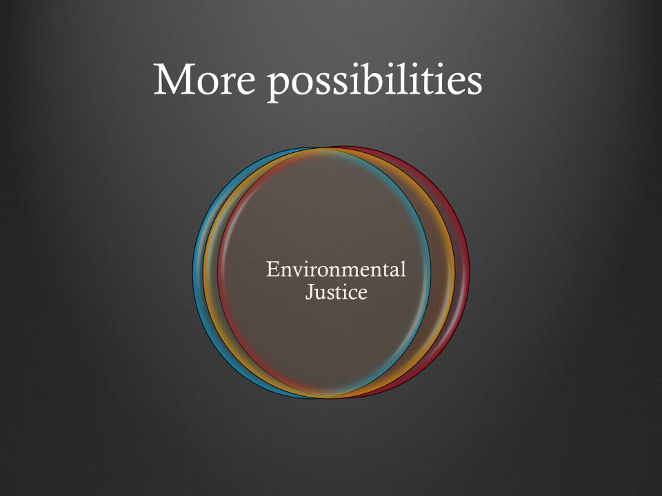 More possibilities Environmental Justice