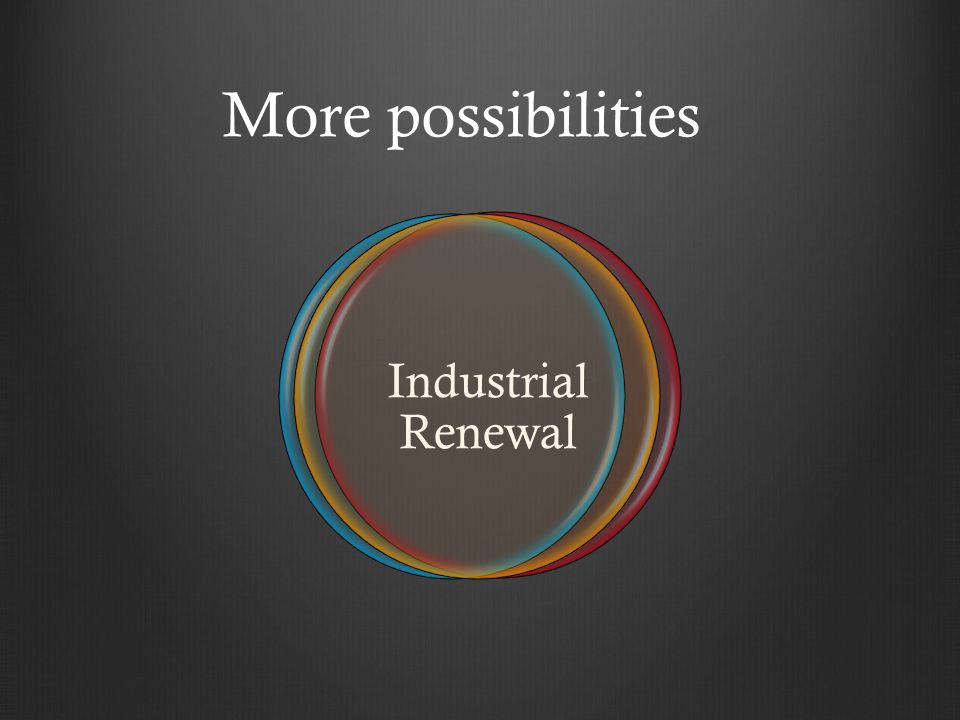 More possibilities Industrial Renewal