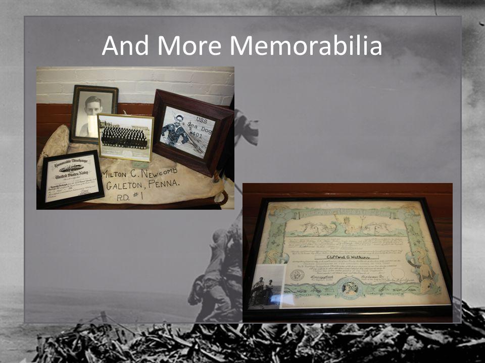 And More Memorabilia