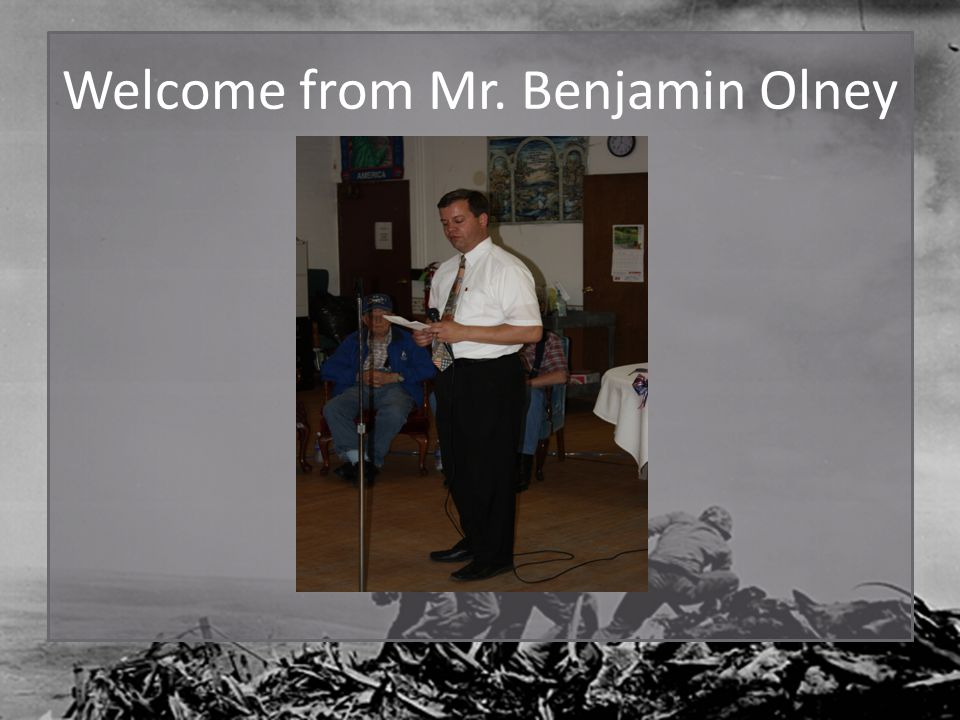 Welcome from Mr. Benjamin Olney