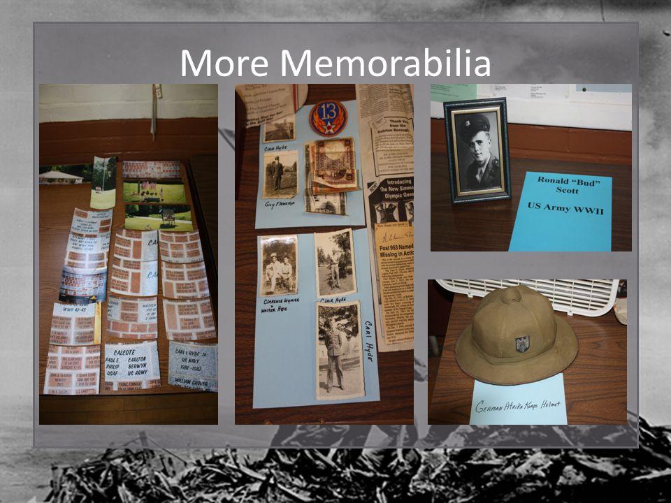 More Memorabilia