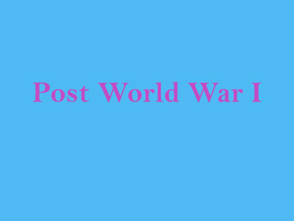 Post World War I Murphey, Rhodes East Asia: A New History, 1997