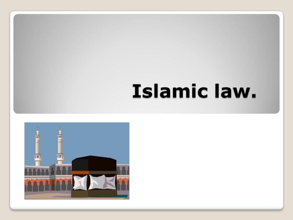 Islamic law.