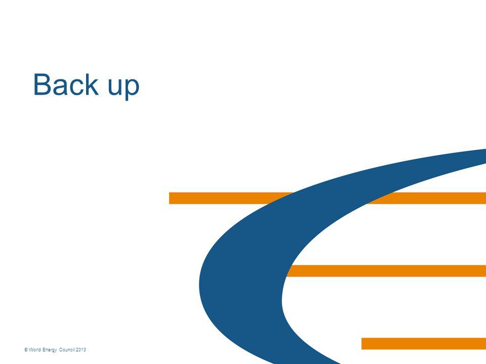 © World Energy Council 2013 Back up