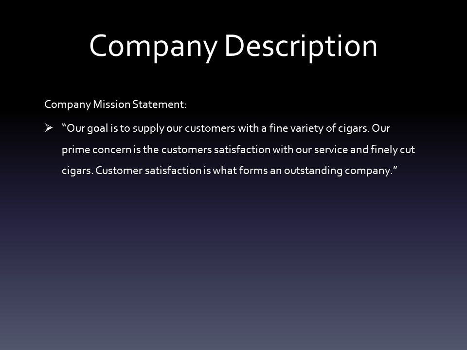 Company Description Effective date of business:  February 29, 2016