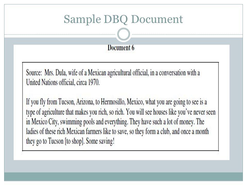 Sample DBQ Document