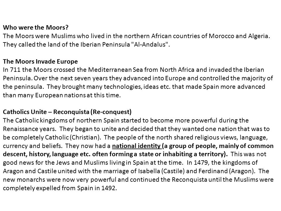 Who were the Moors.