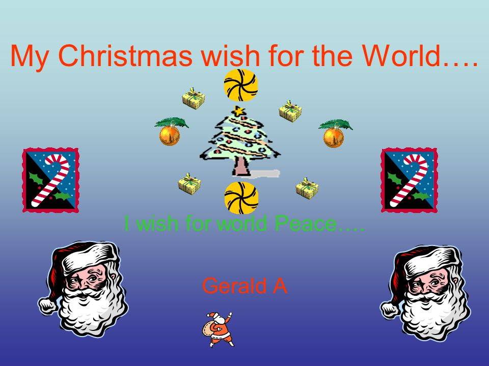My Christmas Wish For The World… That Everyone Has Food To Eat And Water To Drink Gabe D