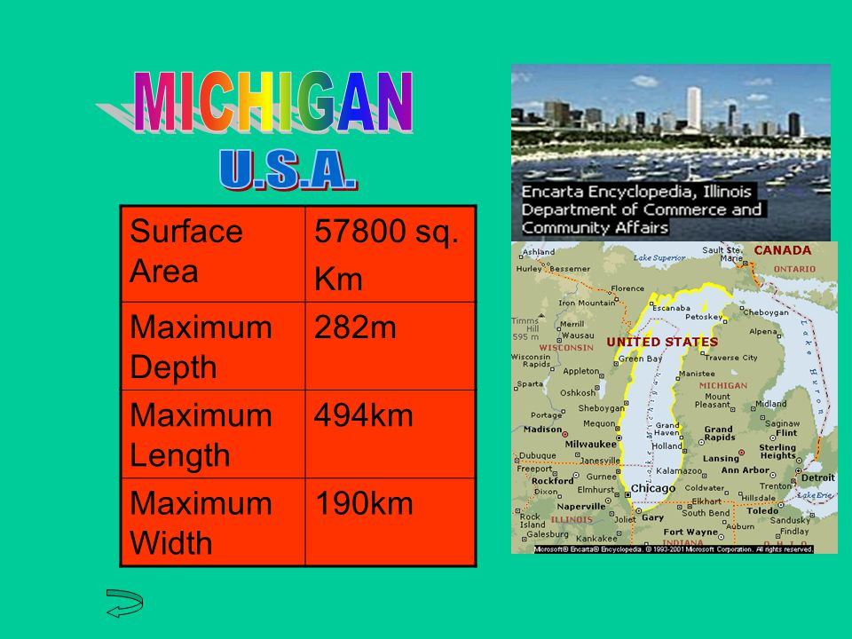 Surface Area sq. Km Maximum Depth 229 m Maximum Length 332 km Maximum Width 295 km