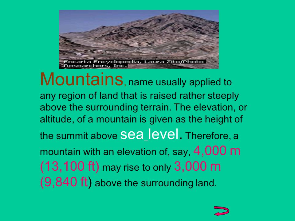define Mountain and LakeMountainLake know about 5 highest mountains by regions5 highest know about 5 highest mountains of the world5 highest know about 5 largest fresh water lakes5 largest appreciates the application of trigonometrytrigonometry After this presentation, we will be able to